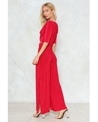 Nasty Gal - Red You've Met Your Match Crop Top And Pants Set - Lyst