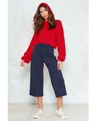 """Nasty Gal - Red """"take Some Heat Relaxed Hoodie"""" - Lyst"""
