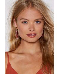 Nasty Gal - Brown Clear As Day Earrings - Lyst