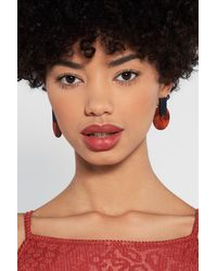 """Nasty Gal Brown """"stare And Marble Acrylic Earrings"""""""