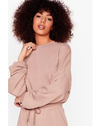 Nasty Gal Pink You Make It Look So Easy Joggers Lounge Set