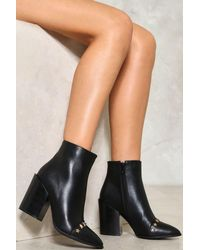 "Nasty Gal Black ""don't Stop Me Now Faux Leather Boot"""
