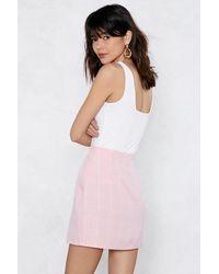 Nasty Gal Pink Send Me The Check Skirt