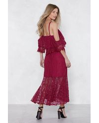 "Nasty Gal Red ""without A Lace Maxi Dress"""