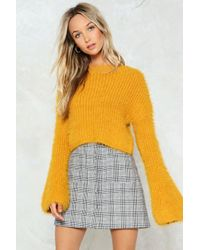 Nasty Gal Multicolor This Time I Know Knit's For Real Cropped Sweater This Time I Know Knit's For Real Cropped Sweater