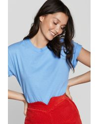 Nasty Gal Blue Be Fucking Nice Relaxed Tee