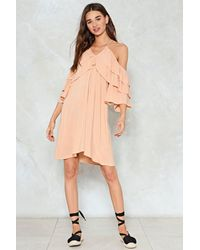 Nasty Gal - Multicolor Tiers Are Falling Cold Shoulder Dress - Lyst