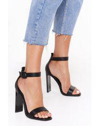 """Nasty Gal Black """"pu Flat Heel Two Part Heels"""""""