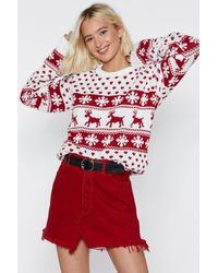 "Nasty Gal Red ""jingle Bell Rock Christmas Sweater"""