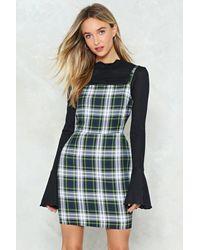 Nasty Gal - Green Check Strappy Dress Check Strappy Dress - Lyst