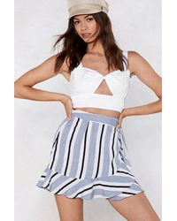 Nasty Gal White This Line I Know It's For Real Striped Skirt