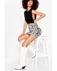 Nasty Gal White Not Our First Rodeo Knee High Cowboy Boots