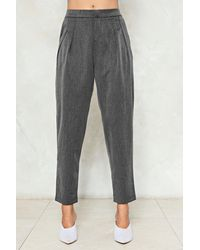 Nasty Gal - Gray Tailored Trouser Tailored Trouser - Lyst