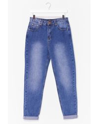 Nasty Gal Blue Fade It Till You Make It High-waisted Mom Jeans