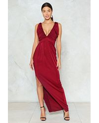 Nasty Gal Red Rouched Slinky Maxi Dress Rouched Slinky Maxi Dress