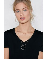 Nasty Gal - Metallic Throwing Shapes Layered Necklace - Lyst