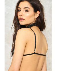 Nasty Gal Black Sid Crochet Lace Bralette