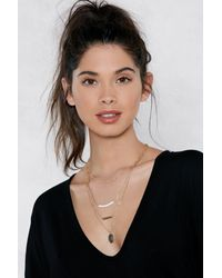 Nasty Gal - Metallic Go Four It Layered Necklace - Lyst
