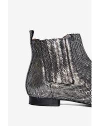 Hudson Jeans Black Reine Metallic Ankle Boot