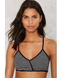 Nasty Gal - Multicolor Drop The Line Striped Bra Top - Lyst