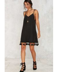 Nasty Gal - Black After Party By Hang With Me Tassel Dress - Lyst