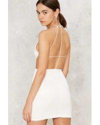 Nasty Gal - White Caelen Mini Dress - Lyst