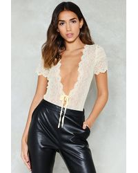 Nasty Gal - Natural High All Over Lace Cut Out Body High All Over Lace Cut Out Body - Lyst
