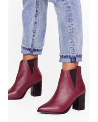 Nasty Gal Multicolor My Best Side Leather Heeled Boots