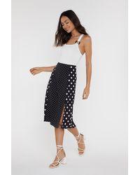 "Nasty Gal Black ""spotted Polka Dot Midi Skirt"""