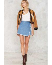Nasty Gal - Blue Unfinished Business Denim Skirt - Lyst