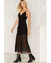 Nasty Gal - Black Nice To See You Sheer Dress - Lyst
