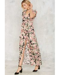 Nasty Gal - Multicolor Wrapped In The Closet Floral Dress - Lyst