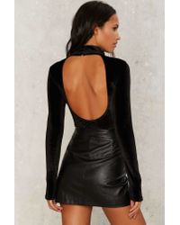 Nasty Gal - Black Another Round Velvet Bodysuit - Lyst