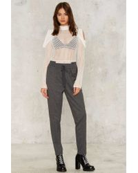 Nasty Gal Gray High Low Can You Go Joggers