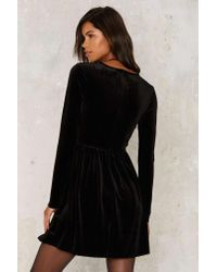Glamorous Black Geena Embroidered Velvet Dress