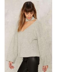 Nasty Gal - Multicolor Patricia Bell Sleeve Sweater - Lyst