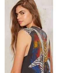 Nasty Gal Multicolor Dripping In Crystal Body Chain
