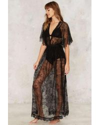 Nasty Gal | Black Lace Oddity Sheer Dress | Lyst