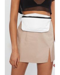 "Nasty Gal White ""want Bag At It Again Fanny Pack"""