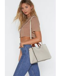 """Nasty Gal Multicolor """"want Can You Handle This Woven Bag"""""""