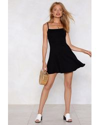 Nasty Gal - Black We're Going Out Tonight Ribbed Dress - Lyst