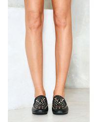 Nasty Gal Black Make A Stand Embellished Loafer