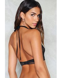 Nasty Gal - Black Lace Racer Front Bra Lace Racer Front Bra - Lyst