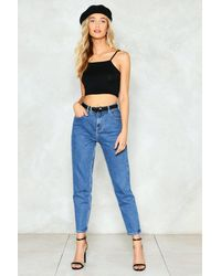 Nasty Gal - Black Strappy Crop Top - Lyst