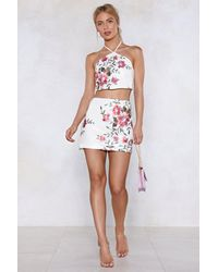 """Nasty Gal White """"it's In Your Nature Sequin Skirt"""""""