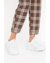 "Nasty Gal White ""sport Sock Chunky New Sole Sneaker"""