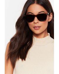"Nasty Gal Brown ""basic Instinct Square Sunglasses"""