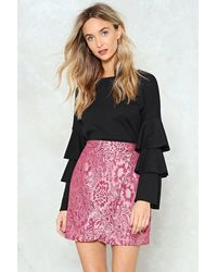 """Nasty Gal Multicolor """"back To Jacq Wrap Skirt"""""""