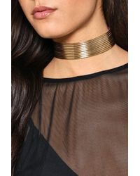 Nasty Gal - Metallic Pipe Up Layered Choker Pipe Up Layered Choker - Lyst