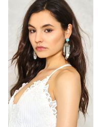 Nasty Gal - Metallic Fall For It Coin Earrings Fall For It Coin Earrings - Lyst
